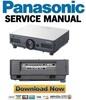 Thumbnail Panasonic PT-D5700 DW5100 Series Service Manual & Repair Guide