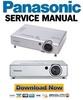 Thumbnail Panasonic PT-LB30 Series Service Manual & Repair Guide