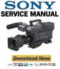 Thumbnail Sony DXC-D50 D50P D50WS D50WSP Service Manual & Repair Guide