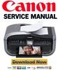 Thumbnail Canon Pixma MX850 Service Manual & Repair Guide + Parts Catalog