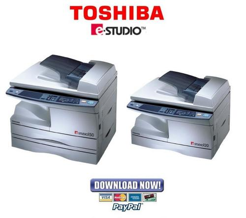 Pay for Toshiba e-Studio 120 + 150 Service and Repair Manual