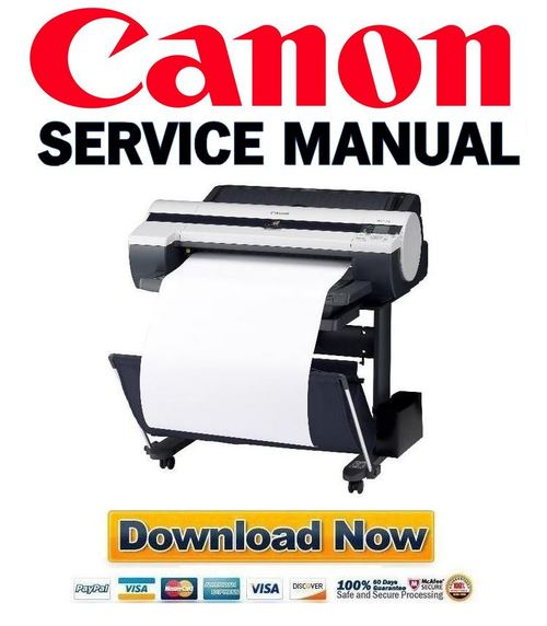 Pay for Canon imagePROGRAF iPF610 Service Manual & Repair Guide