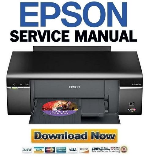 Pay for Epson Artisan 50 Service Manual and Repair Guide