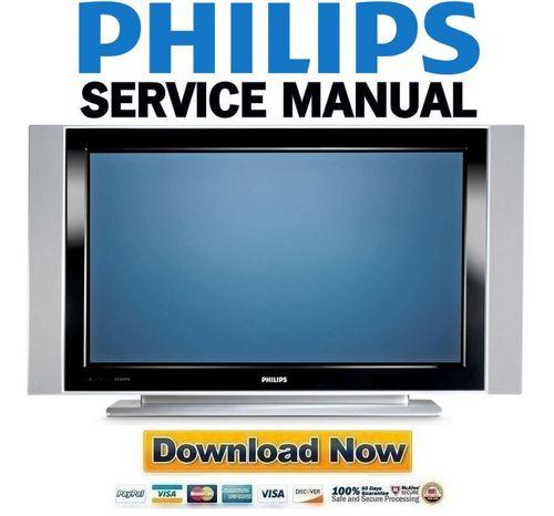 philips 42pf7320 service manual repair guide download manuals rh tradebit com Philips Plasma TV Old Philips TV