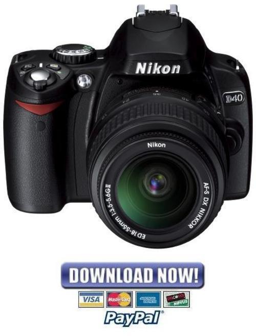 nikon d40 service and repair manual parts list catalog download Nikon D40 Digital Camera Specs Nikon D40 Manual Book