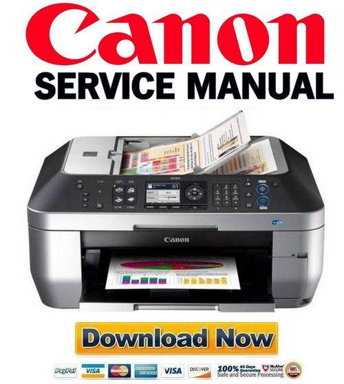 Canon Pixma Mx870 Service  U0026 Repair Manual   Parts Catalog
