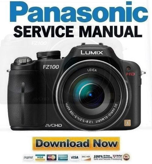 Pay for Panasonic Lumix DMC-FZ100 Service Manual & Repair Guide
