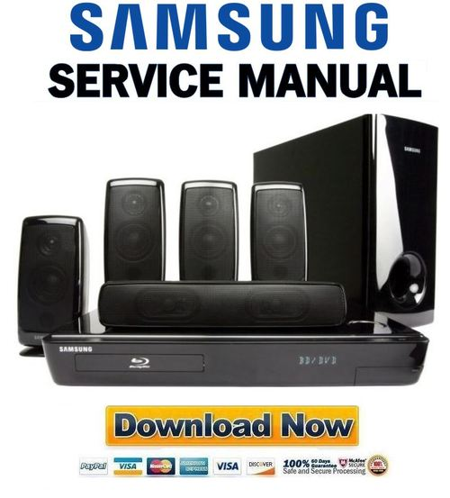 Pay for Samsung HT-BD1250 + BD1250T Service Manual & Repair Guide