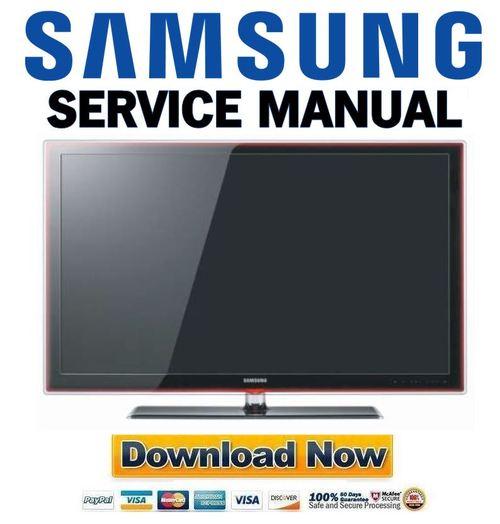 Pay for Samsung UN40B7100 UN46B7100 UN55B7100 Service Manual and Repair Guide