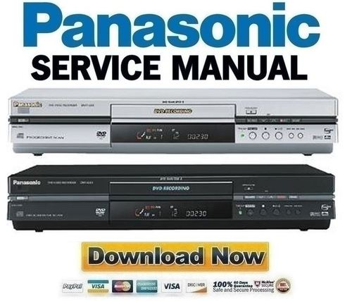 panasonic dmr e55 series service manual repair guide download m rh tradebit com Panasonic DVD VHS Recorder Manual Panasonic DMR EZ485V DVD Recorder VCR Combo