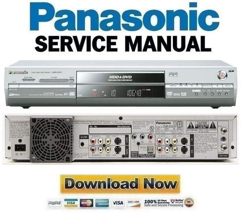 panasonic dmr e95h e95heb e95heg service manual repair guide down rh tradebit com panasonic dmr-e95h manual Panasonic DMR- EZ48V