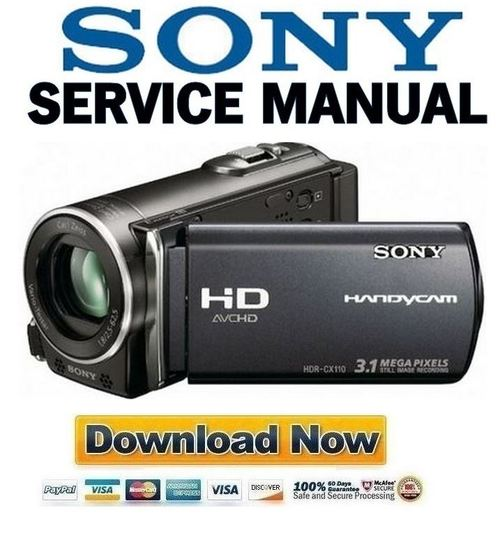 Sony hdr-cx110 high definition camcorder software manual box av.