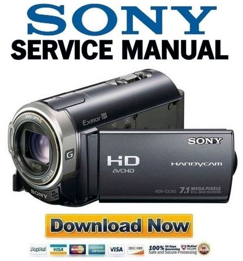 sony hdr cx300 cx305 cx350 cx370 xr350 series service manual pack rh tradebit com