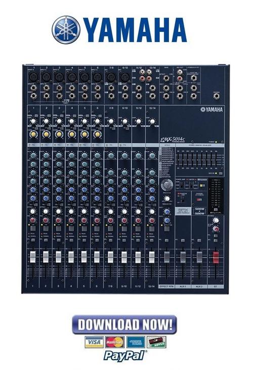 Pay for Yamaha EMX5014C Mixer Service Manual & Repair Guide