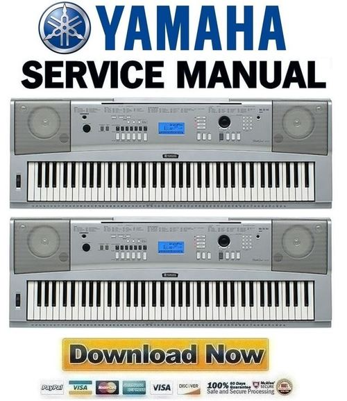 Yamaha dgx 230 ypg 235 keyboard service manual repair for Yamaha ypg 235 used