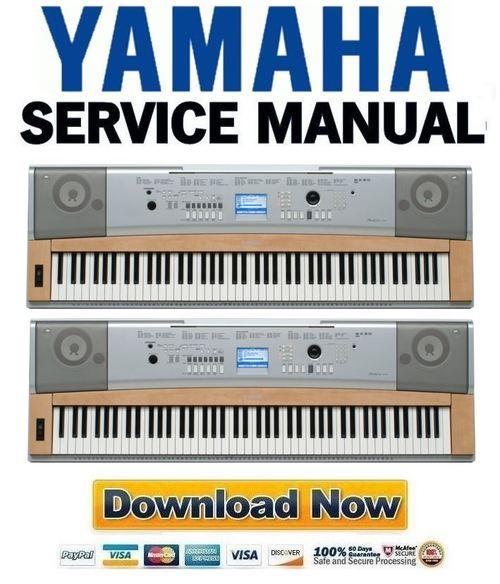 Yamaha dgx 620 ypg 625 keyboard service manual repair for How to repair yamaha keyboard