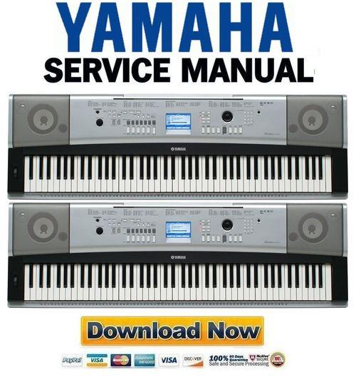 Yamaha DGX-520 + YPG-525 Keyboard Service Manual & Repair Guide