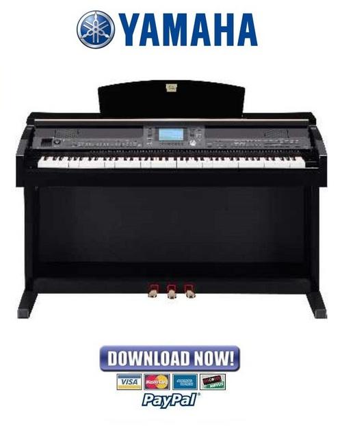 Yamaha clavinova cvp 503 503pe piano service manual for How to repair yamaha keyboard