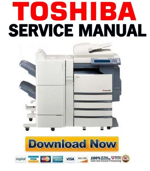 toshiba e studio 452 service manual service handbook parts list catalog