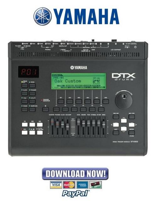 yamaha dtx900 dtx3 drum trigger module service manual repair gu