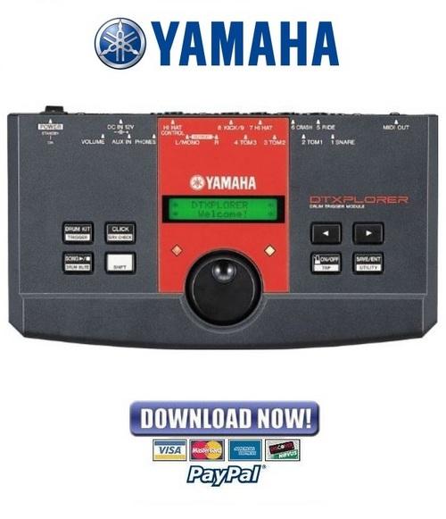 Pay for Yamaha DTXPLORER Drum Trigger Module Service Manual & Repair Guide