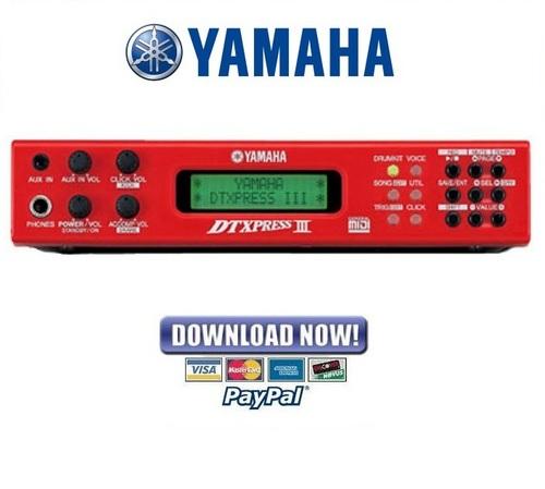 yamaha dtxpress iii 3 drum trigger module service manual repair