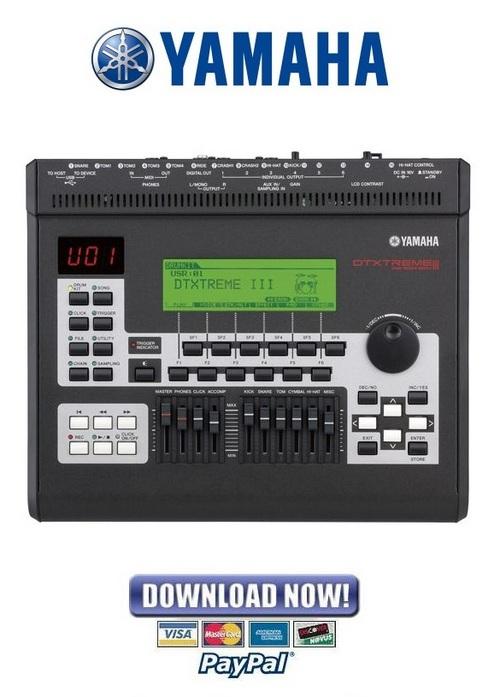 yamaha dtxt3 drum trigger module service manual repair guide do