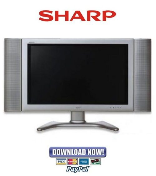 Pay for Sharp LC-30HV4U + 30HV4D Service Manual & Repair Guide