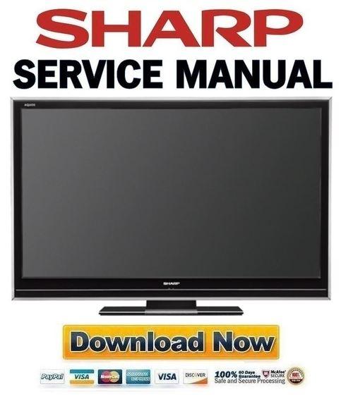 Sharp Lc-52d85un Service Manual  U0026 Repair Guide