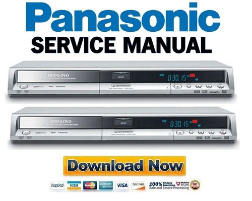 panasonic dmr ex75 ex85 service manual repair guide download rh tradebit com Panasonic DMR DVD Recorder Remote Panasonic DMR EZ485V DVD Recorder VCR Combo