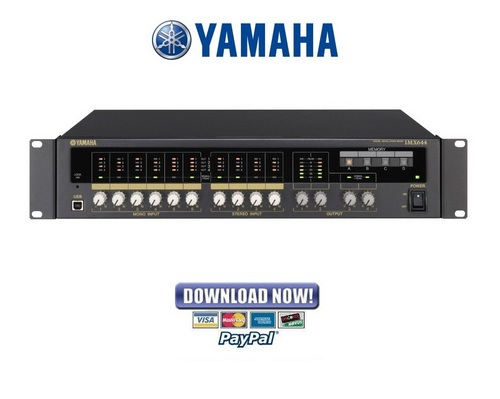yamaha imx644 digital installation mixer service manual