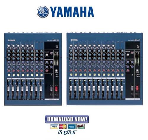 Pay for Yamaha MG12-4 + MG16-4 Mixing Console Service Manual & Repair Guide