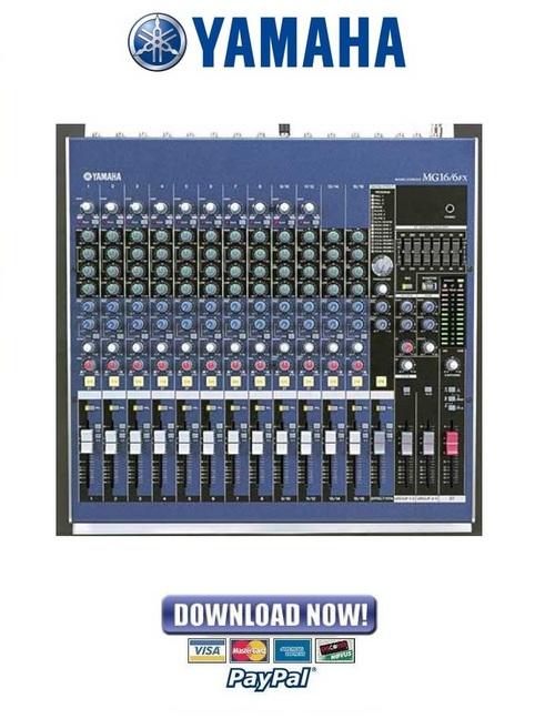 Yamaha mg16 6fx mixing console service manual repair for Yamaha rx a660 manual