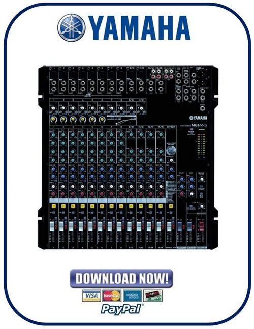 yamaha mg166cx mg166c usb mixing console service manual