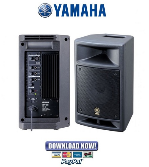 yamaha msr100 sms100 speaker service manual repair guide down. Black Bedroom Furniture Sets. Home Design Ideas