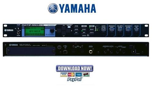 Yamaha Motif Rack XS Tone Generator Service Manual & Repair Guide