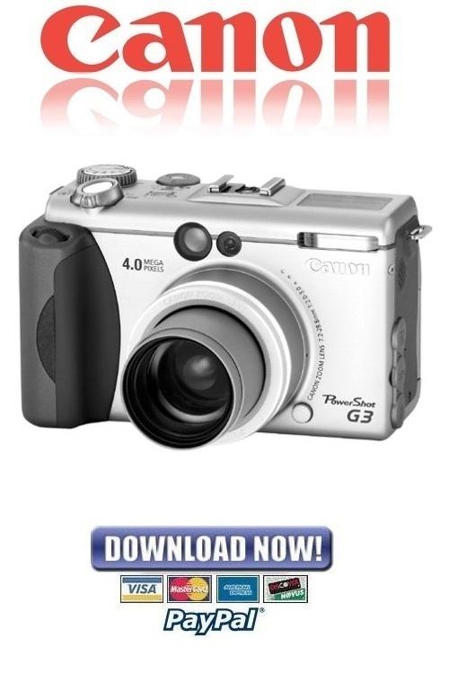 Pay for Canon Powershot G3 FULL Service Manual & Repair Guide