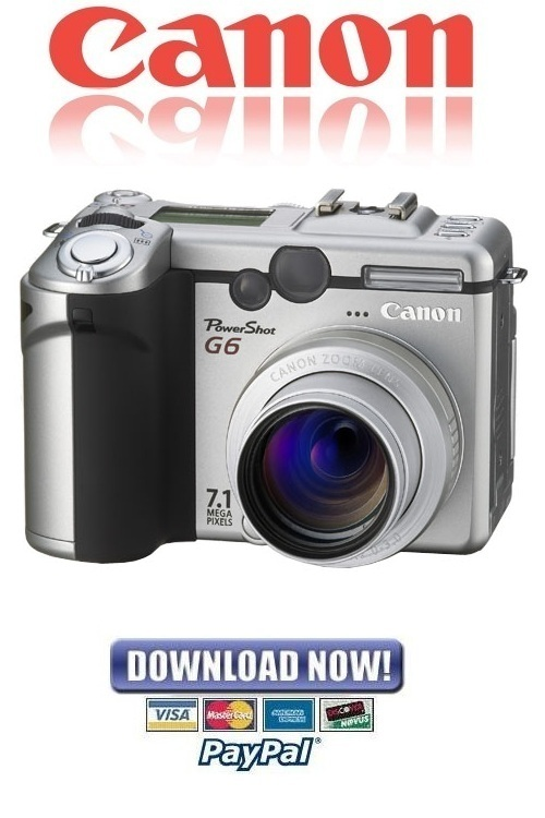 Pay for Canon Powershot G6 FULL Service Manual & Repair Guide