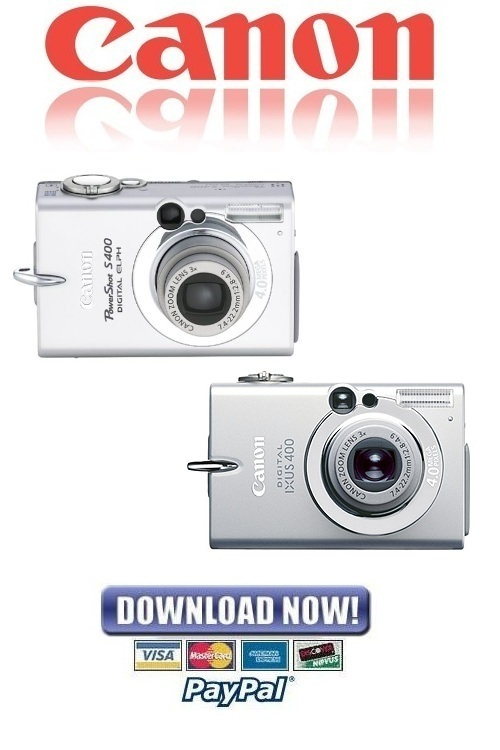 Pay for Canon Powershot S400 + Digital IXUS 400 FULL Service Manual & Repair Guide