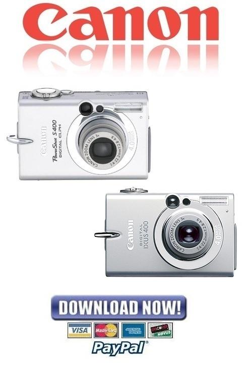 Pay for Canon Powershot S400 + Digital IXUS 400 FULL Service Manual & Repair Guide
