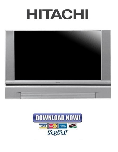 hitachi 50v500 60v500a service manual repair guide download m rh tradebit com Troubleshoot Hitachi Projection TV Hitachi EX 200 Service Manuals