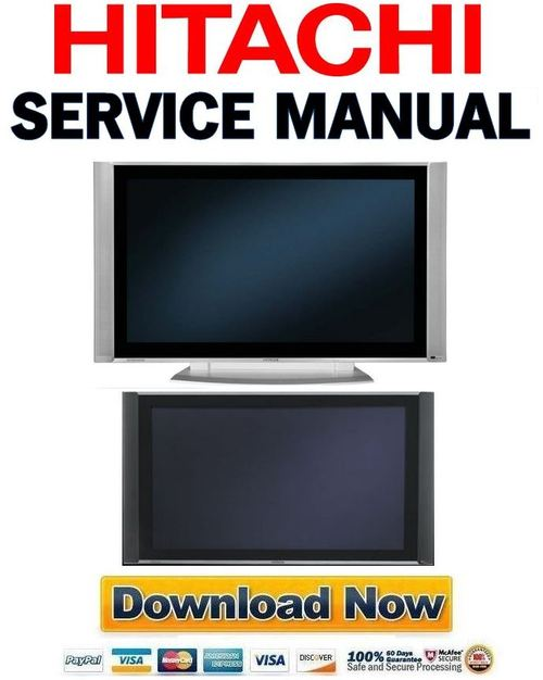 hitachi 55hdx99 55hdt79 55hds69 service manual repair guide dow rh tradebit com hitachi 55hdt79 service manual Hitachi Excavators Service Manual