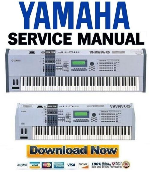 Pay for Yamaha Motif ES6 + ES7 + ES8 Service Manual & Repair Guide