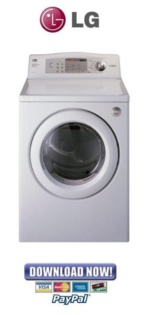 lg dle2532w dle0332w service manual repair guide download man rh tradebit com LG Dryer Problems LG Tromm Dryer Manual