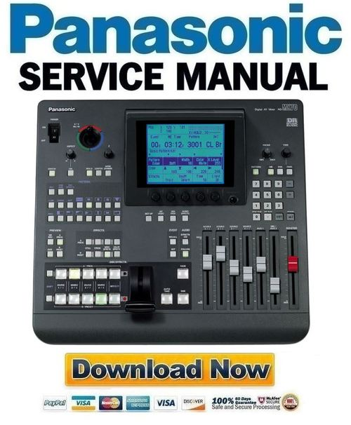 Pay for Panasonic AG-MX70 Service Manual & Repair Guide