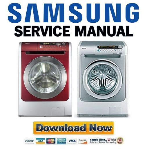 Pay for Samsung WD6122CKC WD6122CKS Service Manual & Repair Guide