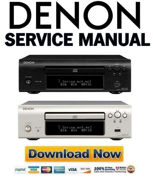Denon Dcd 890 service Manual