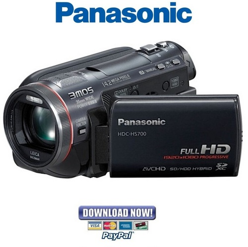 panasonic hdc hs700 series service manual repair guide