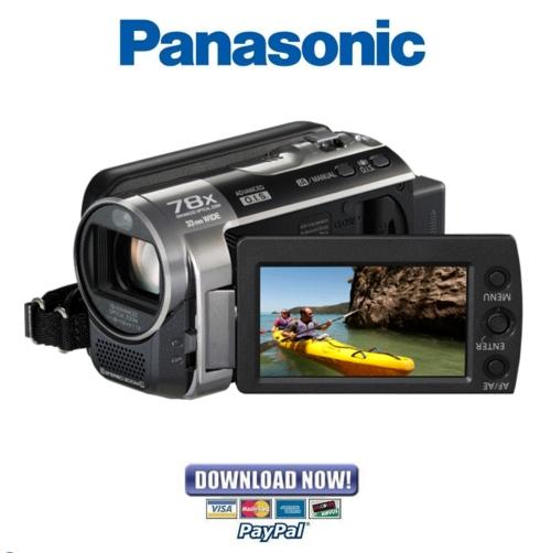 panasonic sdr h100 h101 service manual repair guide download rh tradebit com Microphones Panasonic SDR -H60 Panasonic PV