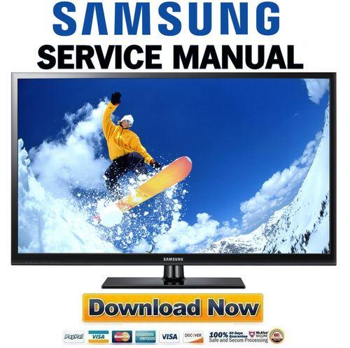 samsung pn43d450 pn43d450a2d service manual and repair